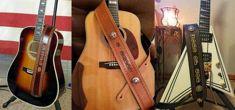 guitar straps with their guitars