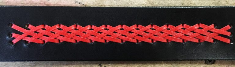 A finished leather braid