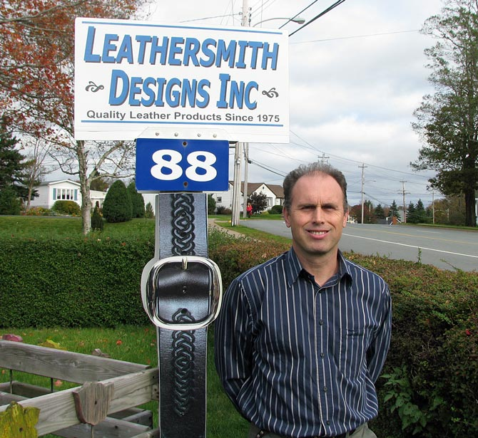 Jamie Hartling, founder of the leathercraft store - Leathersmith Designs