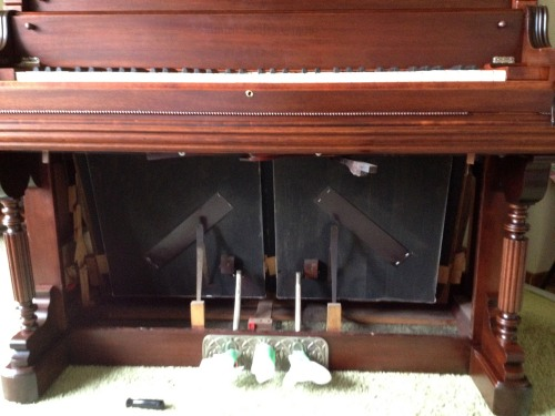 Organ repair to bellows with new leather valve covers