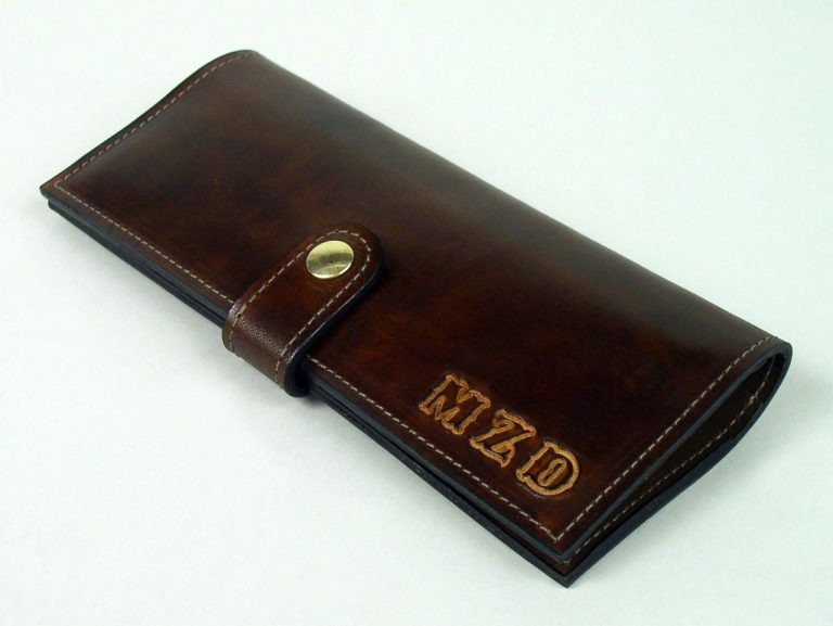 personalized women's leather wallet