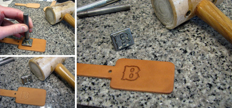 Tooling The Leather Key Fob